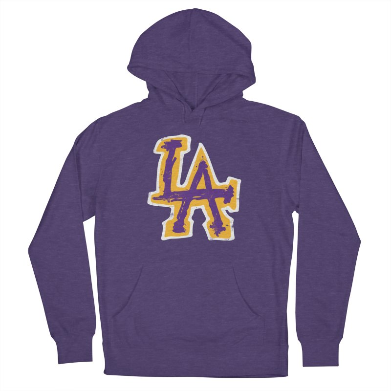 FEAR L.A. Women's French Terry Pullover Hoody by Lakers Nation's Artist Shop