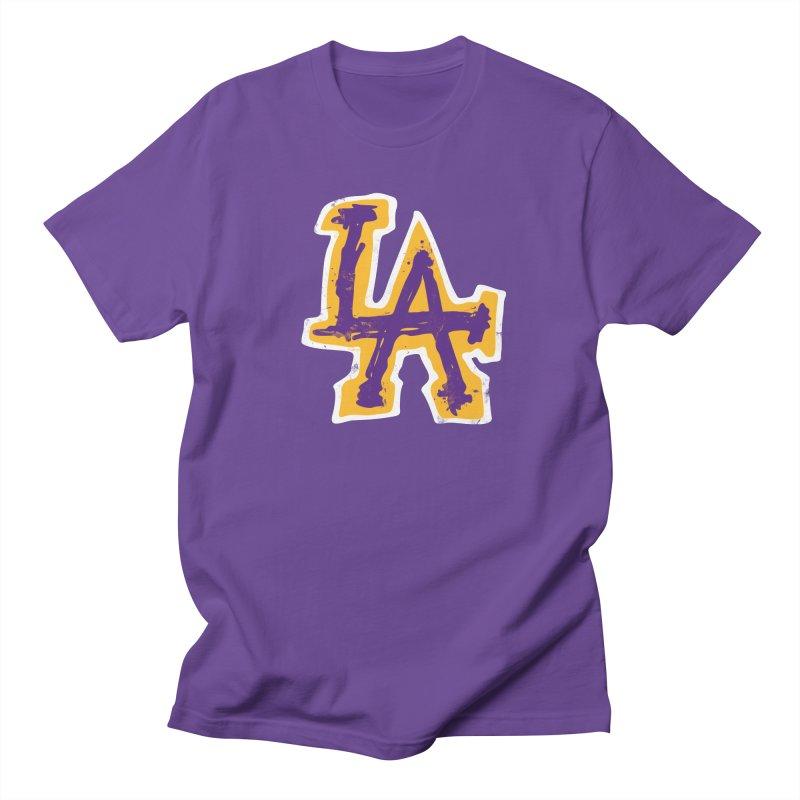 FEAR L.A. Men's Regular T-Shirt by Lakers Nation's Artist Shop