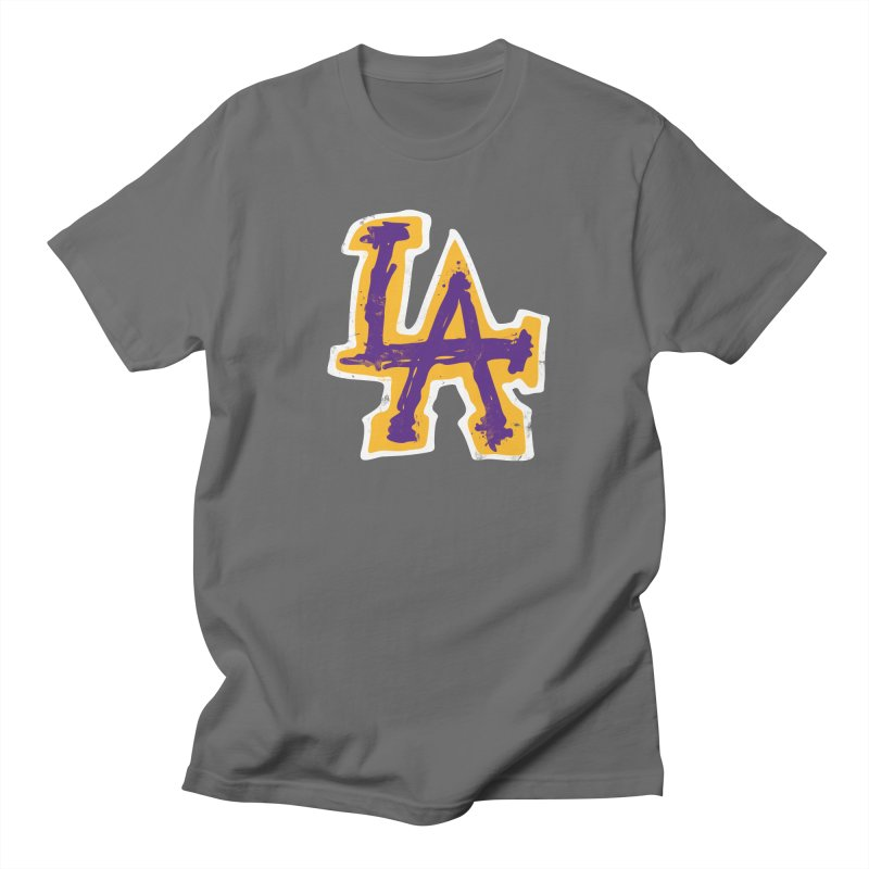 Purple and Gold LA Women's Regular Unisex T-Shirt by lakersnation's Artist Shop