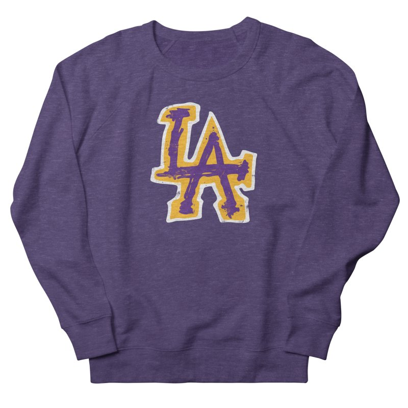 FEAR L.A. Men's French Terry Sweatshirt by Lakers Nation's Artist Shop