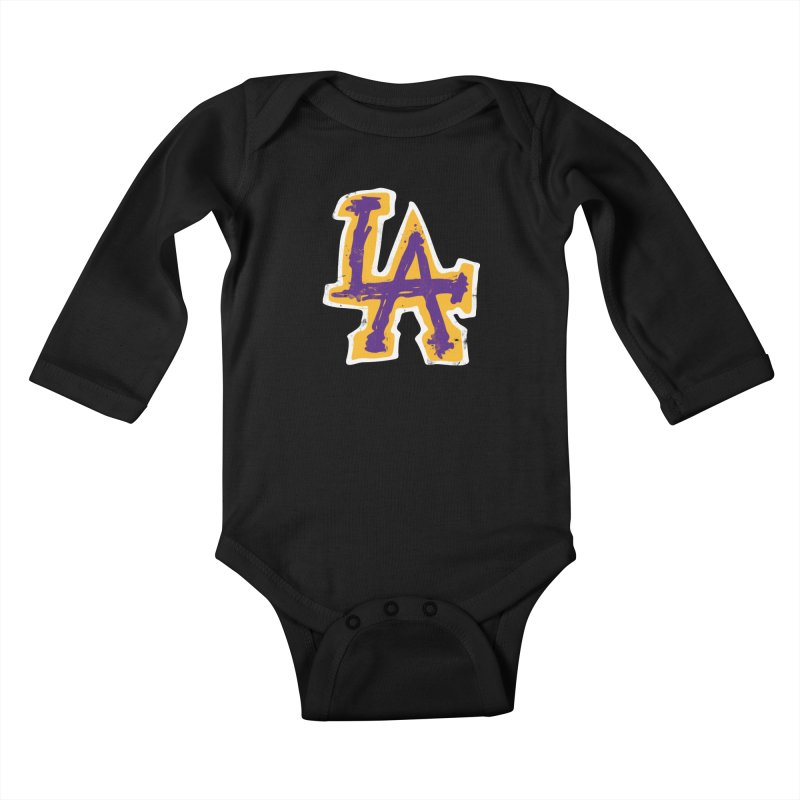 FEAR L.A. Kids Baby Longsleeve Bodysuit by Lakers Nation's Artist Shop