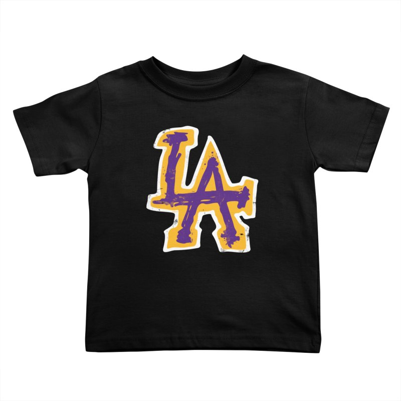 Purple and Gold LA Kids Toddler T-Shirt by lakersnation's Artist Shop