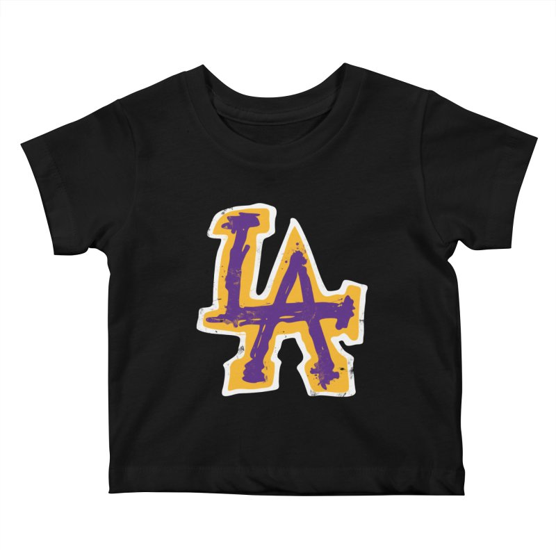 FEAR L.A. Kids Baby T-Shirt by Lakers Nation's Artist Shop