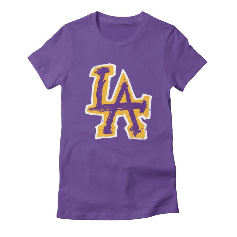 FEAR L.A. Women's T-Shirt by Lakers Nation's Artist Shop