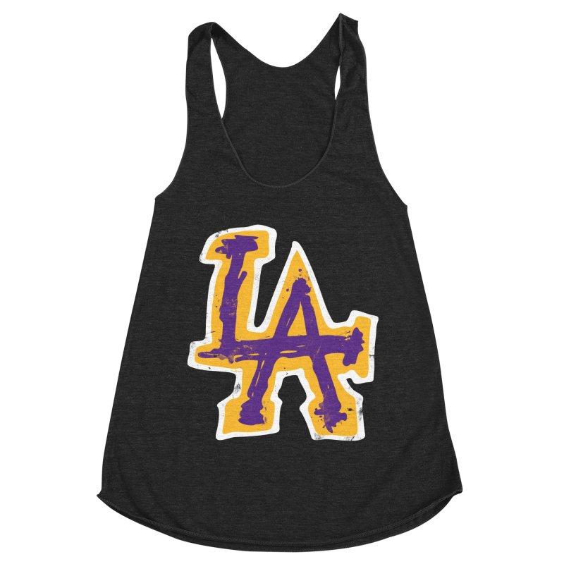 FEAR L.A. Women's Racerback Triblend Tank by Lakers Nation's Artist Shop
