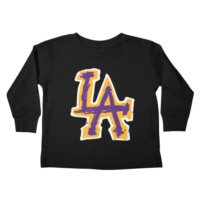 FEAR L.A. Kids Toddler Longsleeve T-Shirt by Lakers Nation's Artist Shop