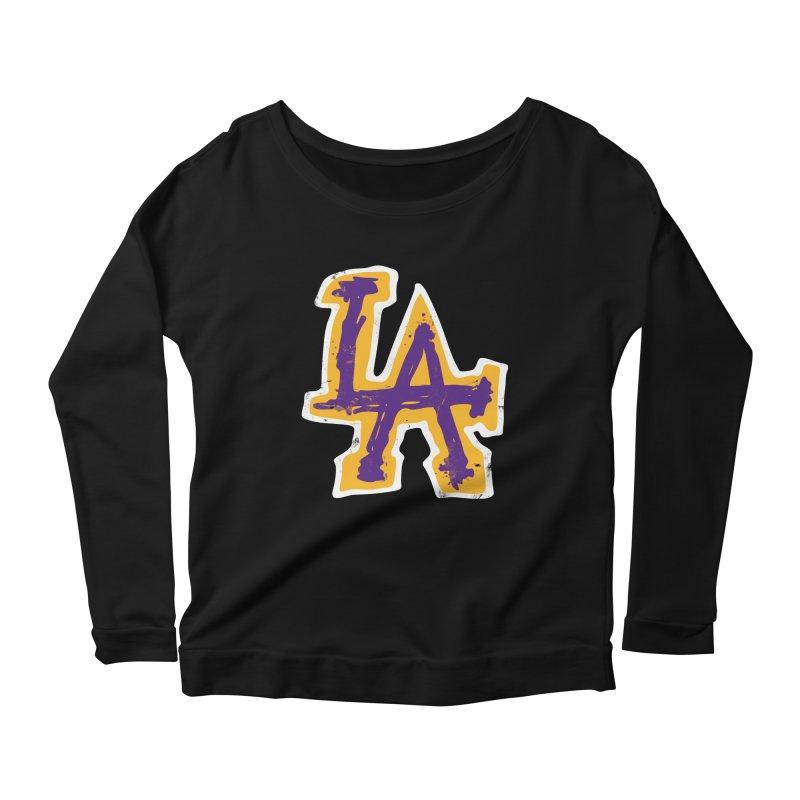 FEAR L.A. Women's Scoop Neck Longsleeve T-Shirt by Lakers Nation's Artist Shop