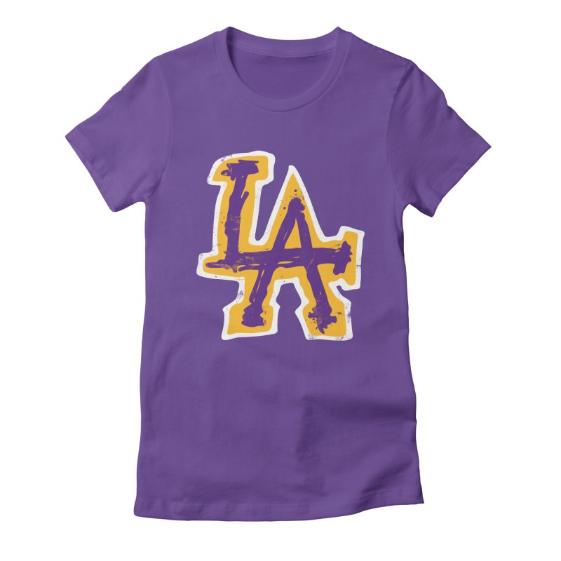 FEAR L.A. Women's T-Shirt by Lakers Nation's Artist Shop