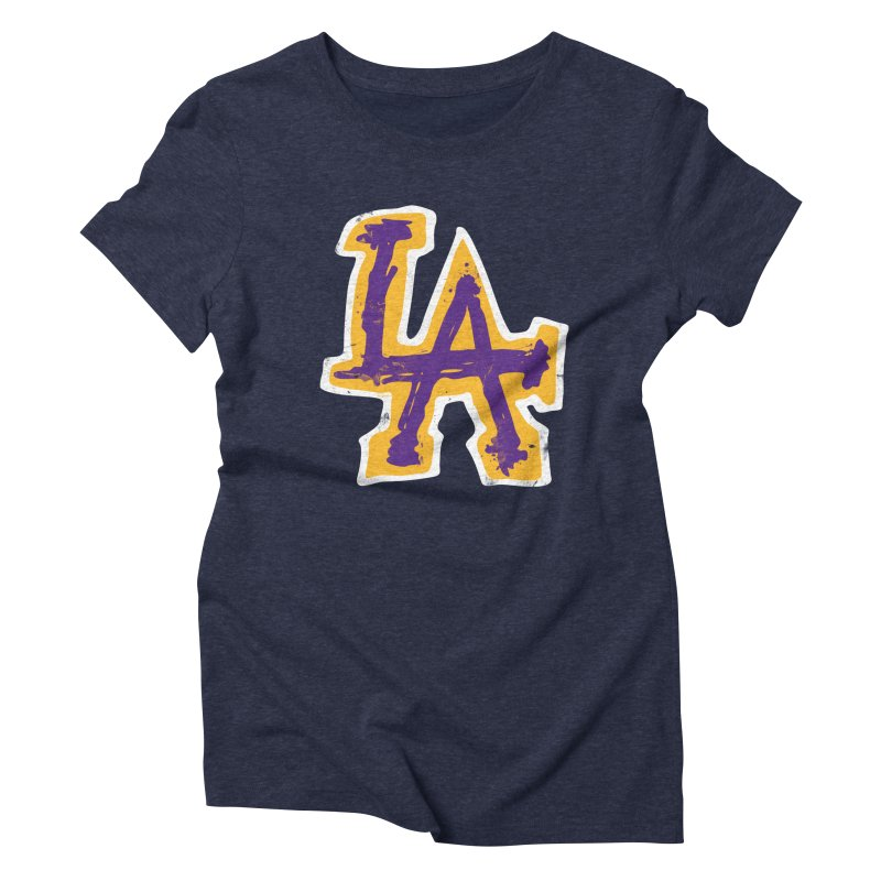 FEAR L.A. Women's Triblend T-Shirt by Lakers Nation's Artist Shop
