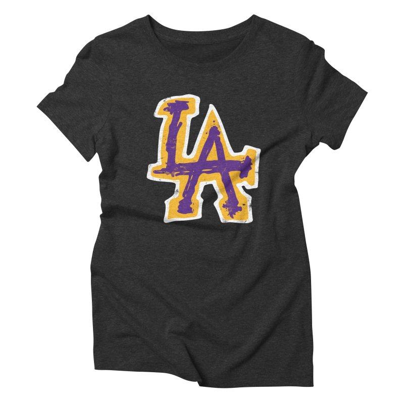 FEAR L.A. Women's Triblend T-Shirt by lakersnation's Artist Shop
