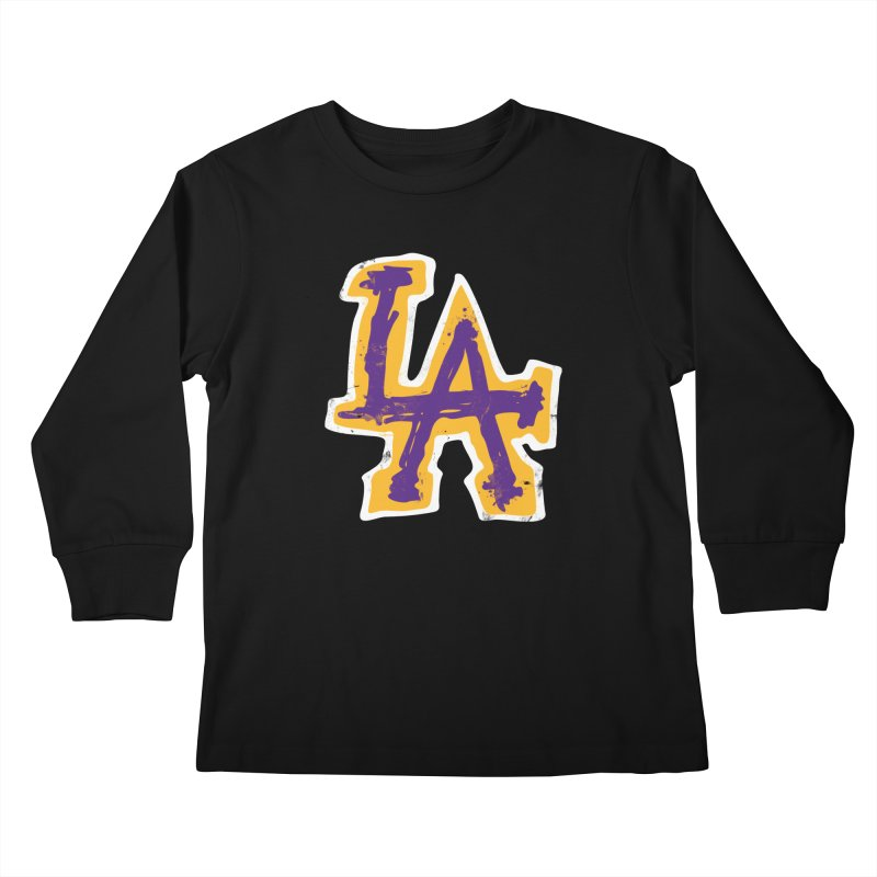 FEAR L.A. Kids Longsleeve T-Shirt by Lakers Nation's Artist Shop