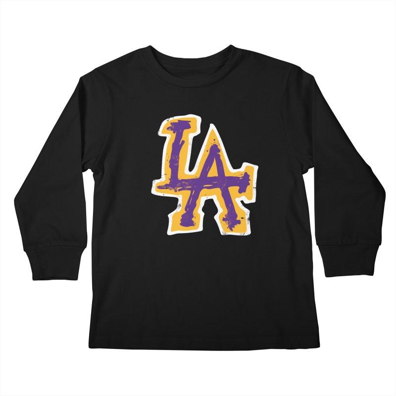 FEAR L.A. Kids Longsleeve T-Shirt by lakersnation's Artist Shop