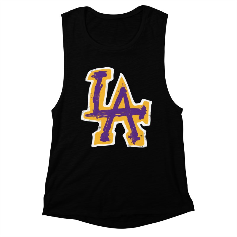 FEAR L.A. Women's Muscle Tank by Lakers Nation's Artist Shop