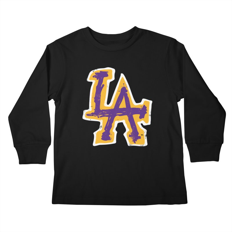 FEAR L.A. Kids Longsleeve T-Shirt by Lakers Nation's Artist Shop