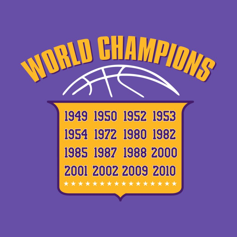 World Champions Men's T-Shirt by Lakers Nation's Artist Shop