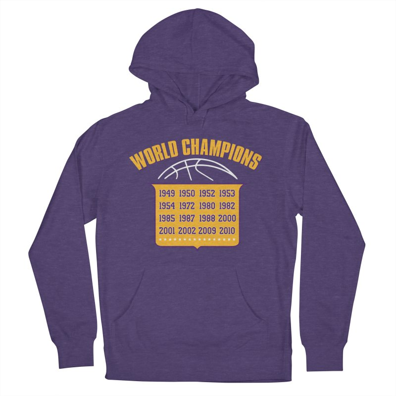 World Champions Men's French Terry Pullover Hoody by Lakers Nation's Artist Shop