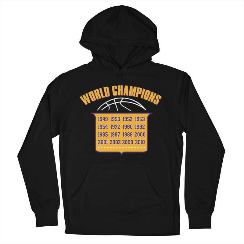 World Champions Men's French Terry Pullover Hoody by lakersnation's Artist Shop