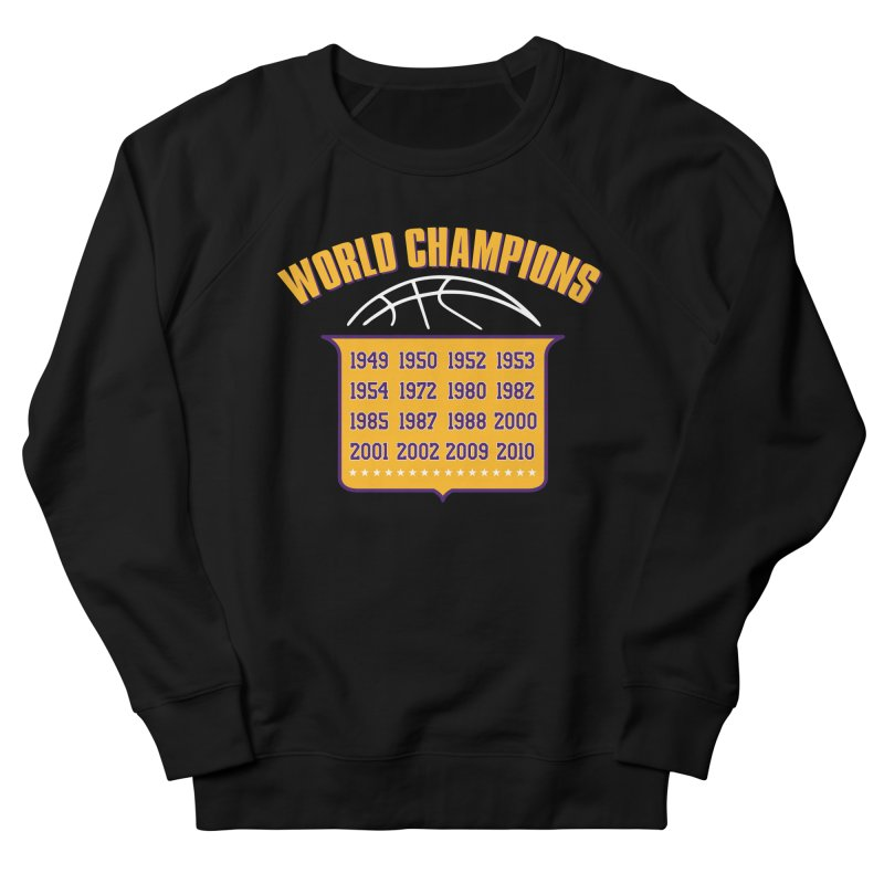 World Champions Men's French Terry Sweatshirt by Lakers Nation's Artist Shop