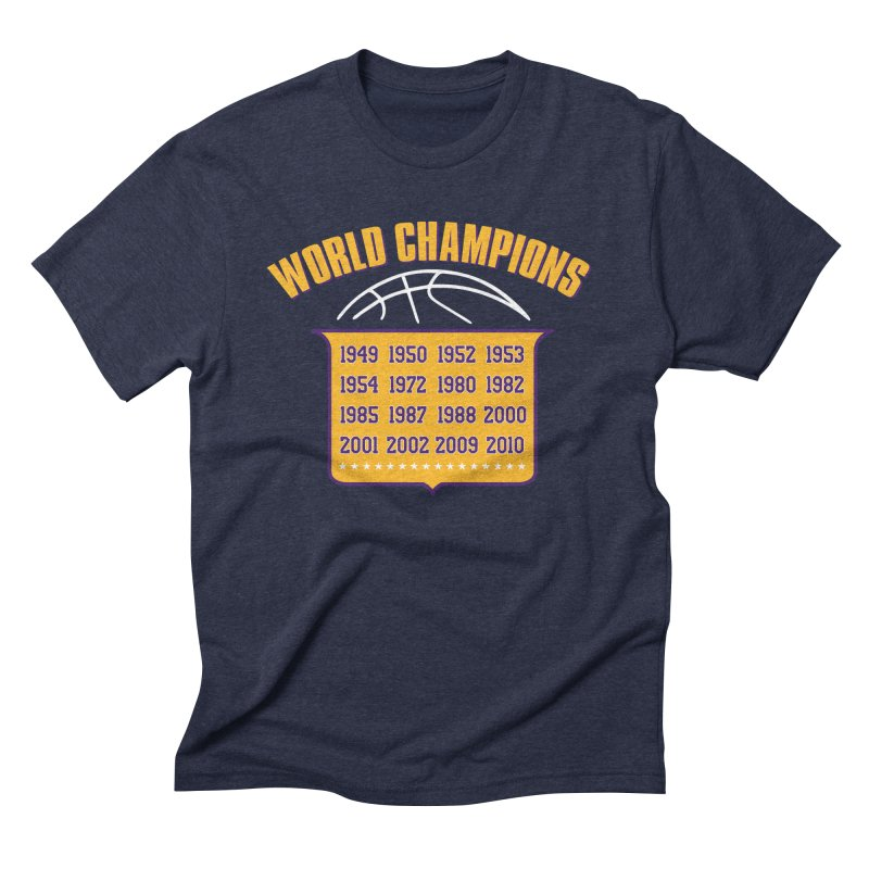 World Champions Men's Triblend T-Shirt by Lakers Nation's Artist Shop