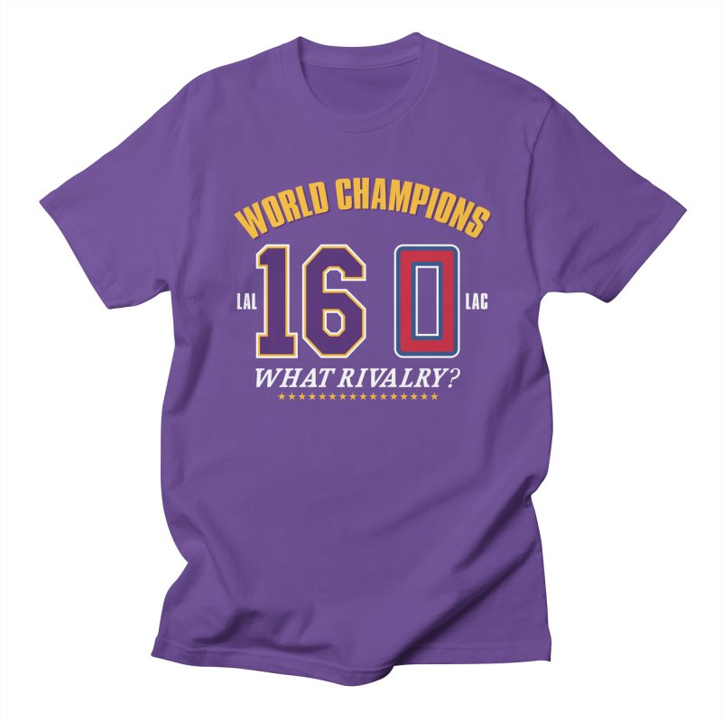 What Rivalry? in Men's Regular T-Shirt Purple by Lakers Nation's Artist Shop