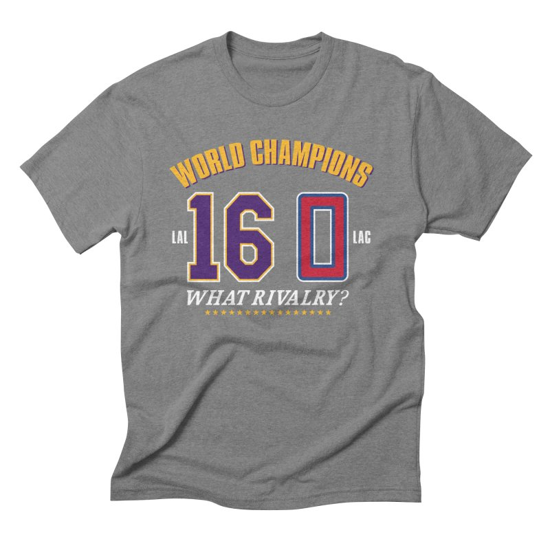 What Rivalry? Men's Triblend T-Shirt by Lakers Nation's Artist Shop