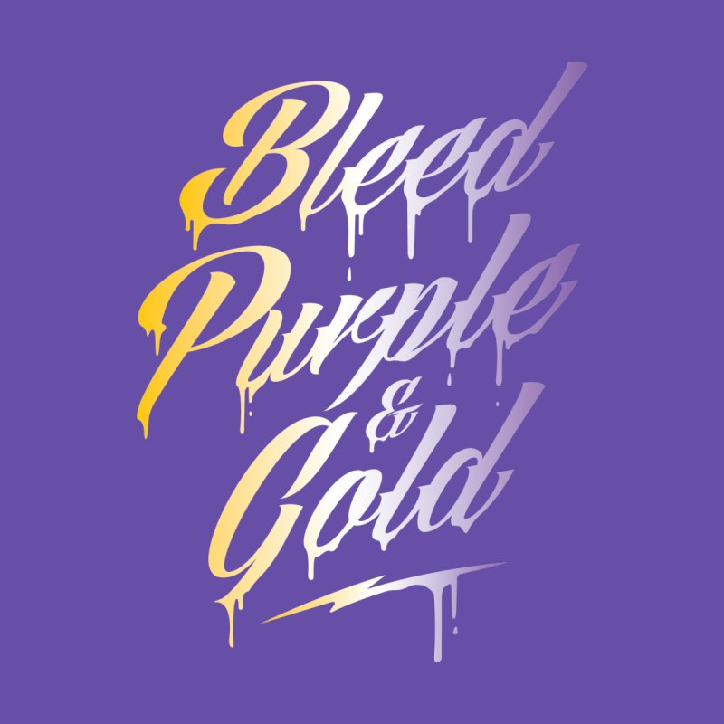 Bleed Purple and Gold 2 Men's T-Shirt by Lakers Nation's Artist Shop
