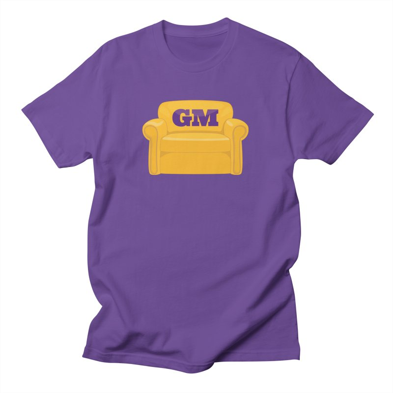 Armchair GM in Men's Regular T-Shirt Purple by lakersnation's Artist Shop