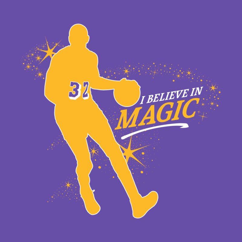 I Believe in Magic Kids Longsleeve T-Shirt by Lakers Nation's Artist Shop