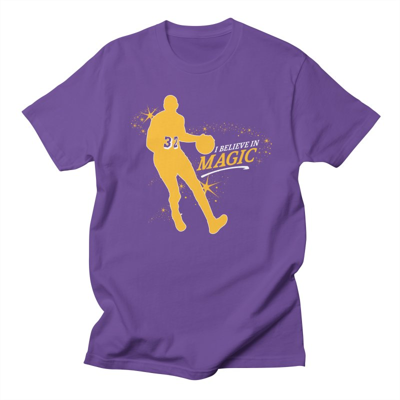 I Believe in Magic in Men's Regular T-Shirt Purple by Lakers Nation's Artist Shop