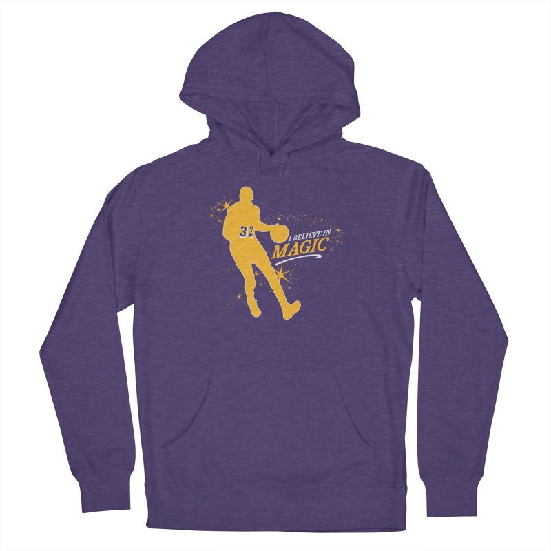 I Believe in Magic Men's French Terry Pullover Hoody by Lakers Nation's Artist Shop