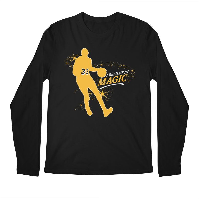 I Believe in Magic Men's Regular Longsleeve T-Shirt by Lakers Nation's Artist Shop