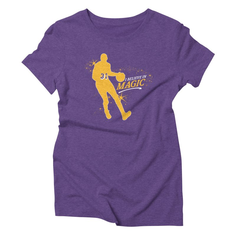 I Believe in Magic Women's Triblend T-Shirt by lakersnation's Artist Shop