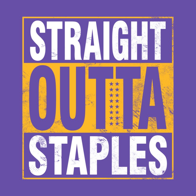 Straight Outta Staples Men's Longsleeve T-Shirt by lakersnation's Artist Shop