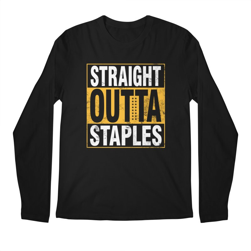 Straight Outta Staples Men's Longsleeve T-Shirt by Lakers Nation's Artist Shop