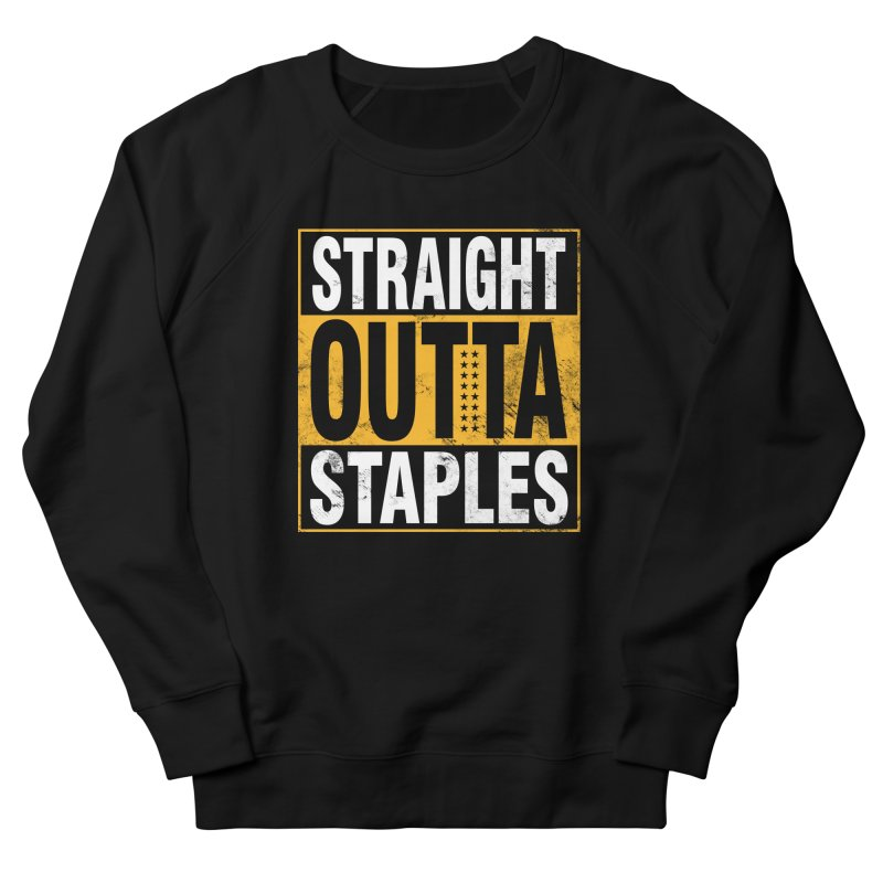Straight Outta Staples Men's French Terry Sweatshirt by Lakers Nation's Artist Shop