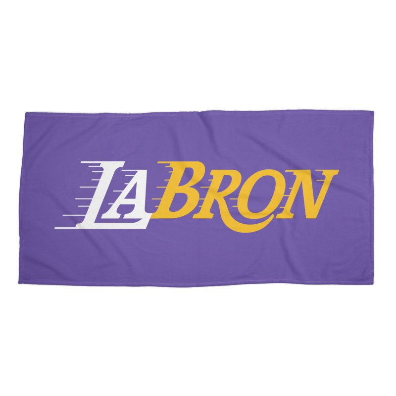 LaBron Accessories Beach Towel by Lakers Nation's Artist Shop