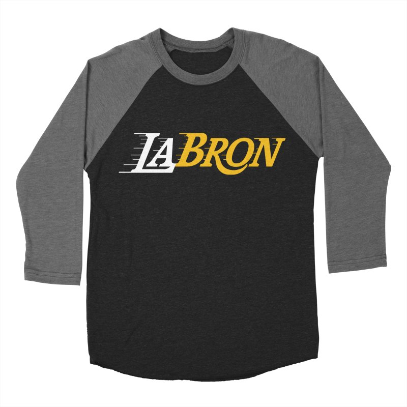 LaBron Men's Baseball Triblend Longsleeve T-Shirt by Lakers Nation's Artist Shop