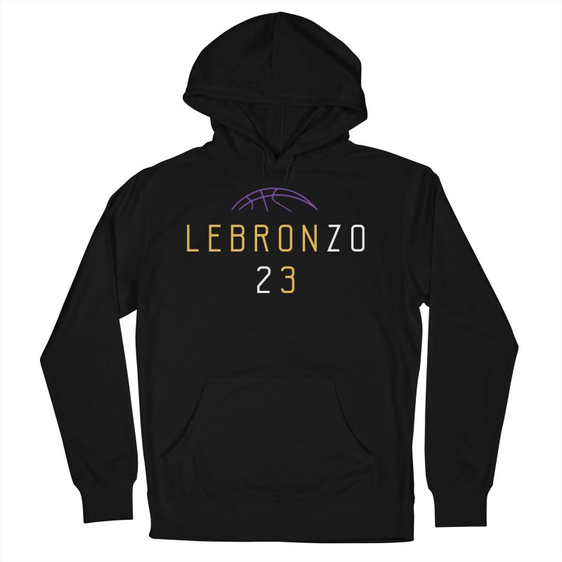 LEBRONZO Women's French Terry Pullover Hoody by Lakers Nation's Artist Shop