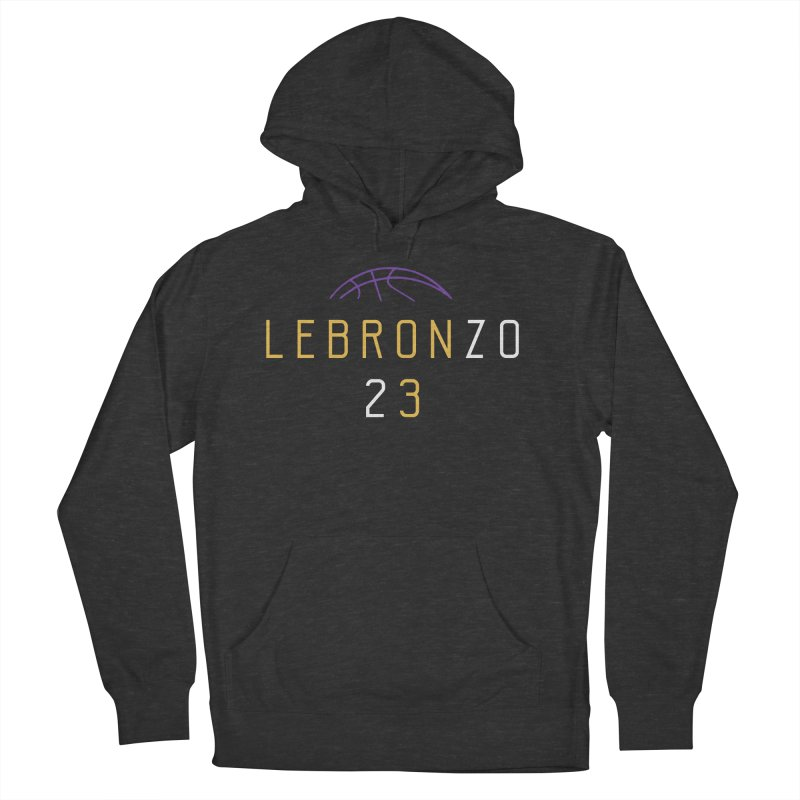 LEBRONZO Men's French Terry Pullover Hoody by Lakers Nation's Artist Shop