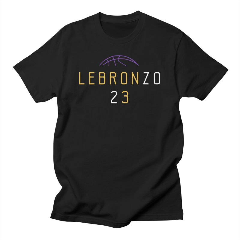 LEBRONZO in Men's T-Shirt Black by lakersnation's Artist Shop