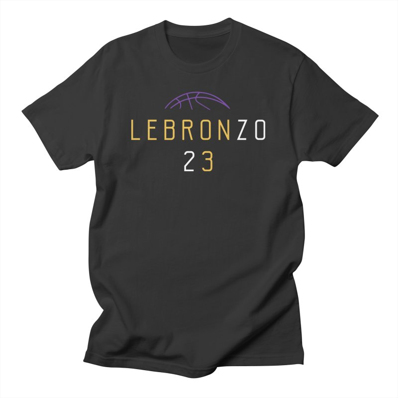 LEBRONZO Men's Regular T-Shirt by Lakers Nation's Artist Shop