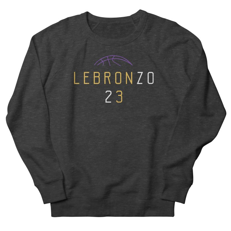 LEBRONZO Women's French Terry Sweatshirt by Lakers Nation's Artist Shop