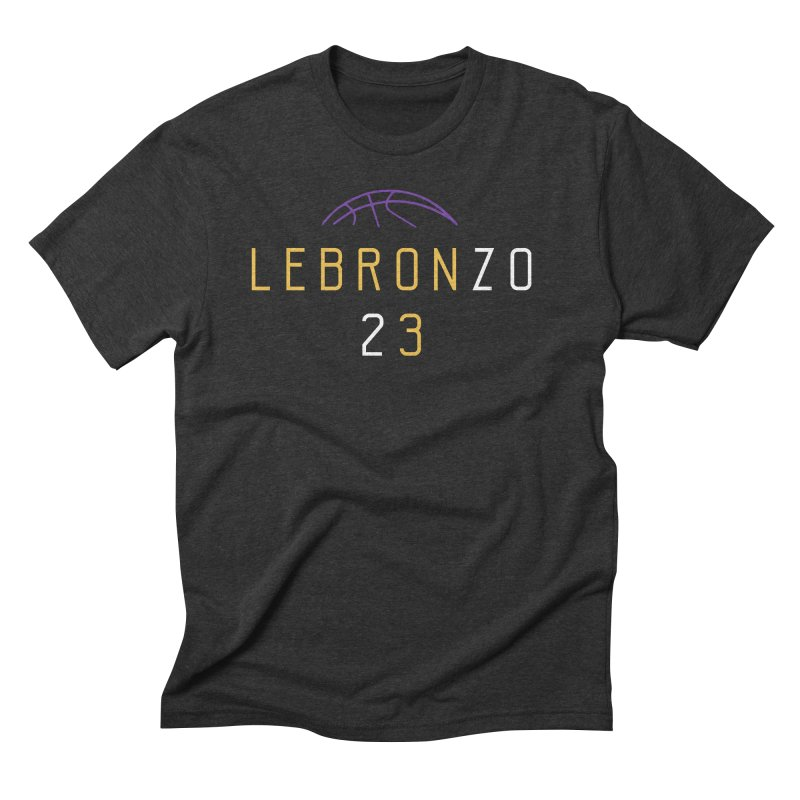 LEBRONZO Men's Triblend T-Shirt by Lakers Nation's Artist Shop