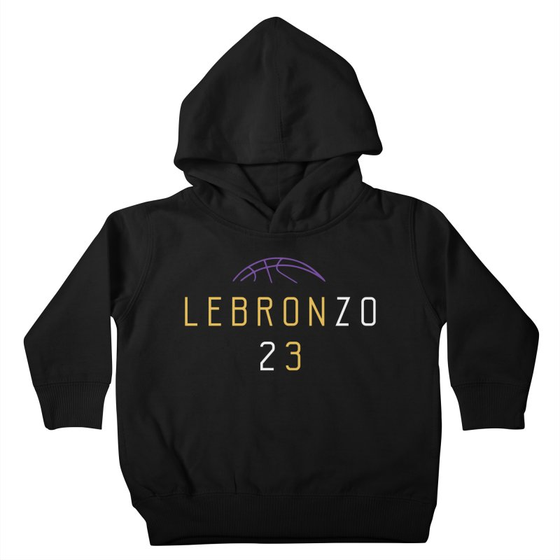 LEBRONZO Kids Toddler Pullover Hoody by Lakers Nation's Artist Shop