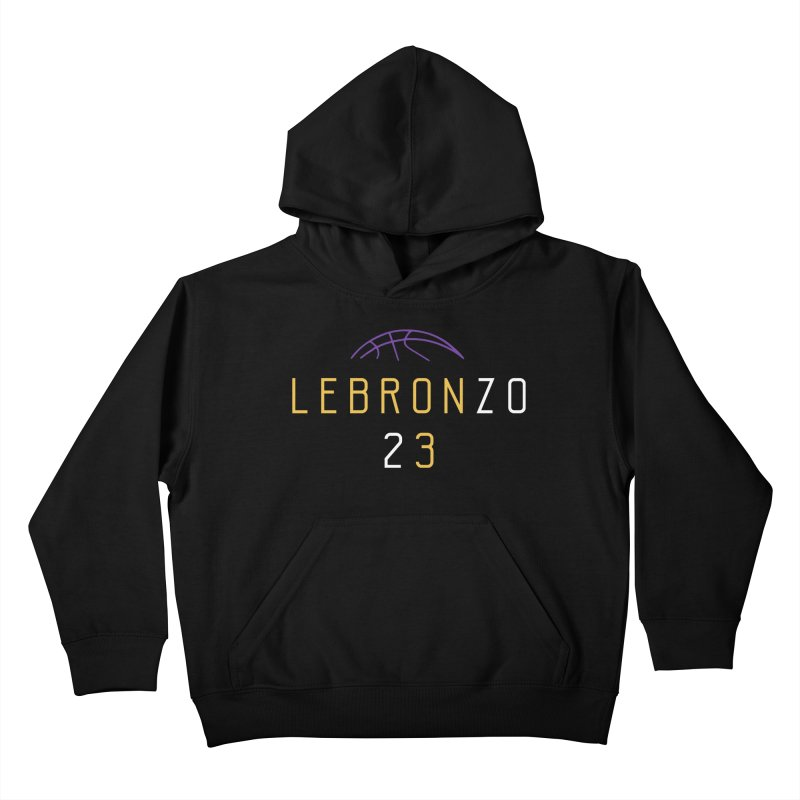 LEBRONZO Kids Pullover Hoody by Lakers Nation's Artist Shop