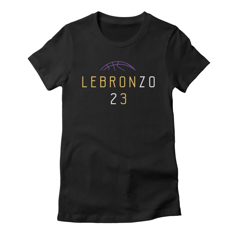 LEBRONZO Women's Fitted T-Shirt by lakersnation's Artist Shop