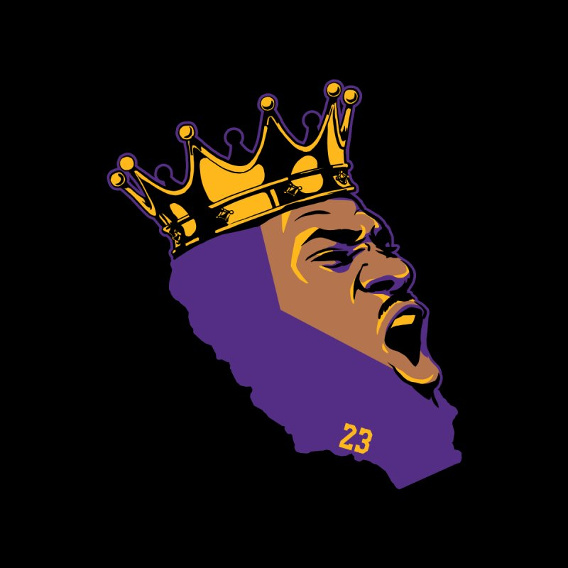 California King Home Mounted Aluminum Print by Lakers Nation's Artist Shop