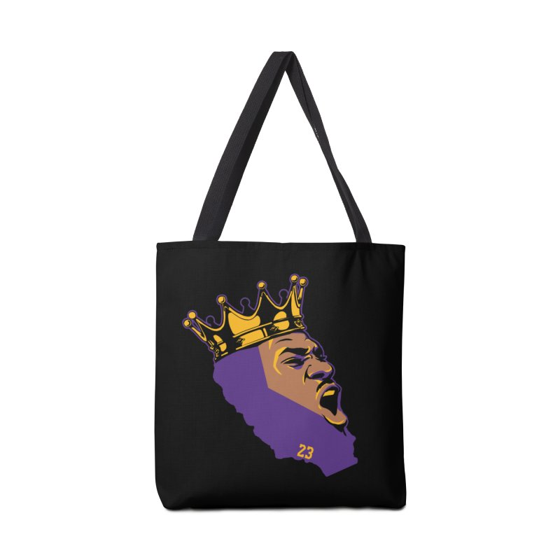 California King Accessories Tote Bag Bag by Lakers Nation's Artist Shop