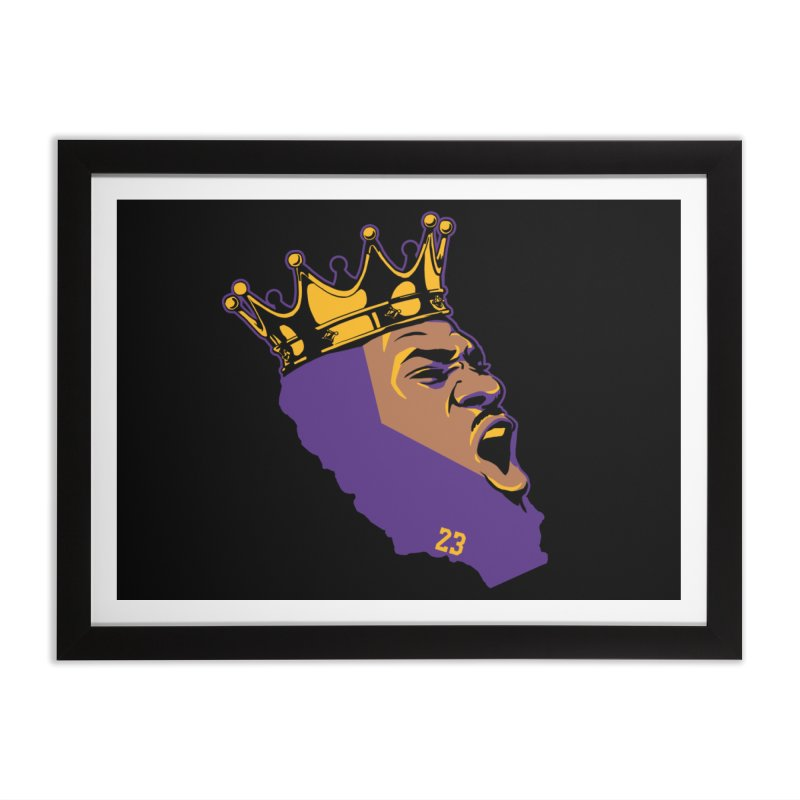 California King Home Framed Fine Art Print by Lakers Nation's Artist Shop