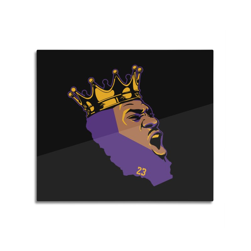 California King Home Mounted Aluminum Print by lakersnation's Artist Shop